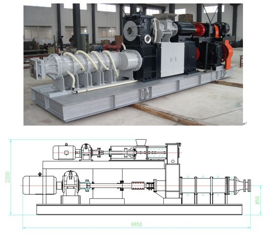 310 de-airing extruder of scr catalyst production equipment